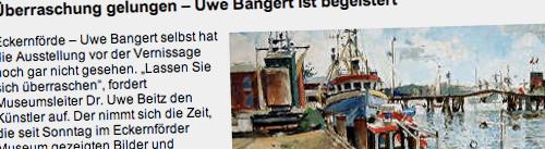 Ausstellung der Bilder von Uwe Bangert im Museum Eckernförde