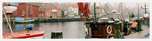 Eckernförde Hafen am Heiligmorgen