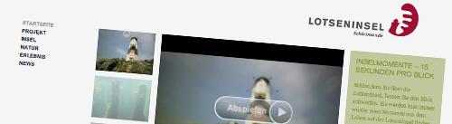 Eine angenehm gestaltete Website: Lotseninsel.de